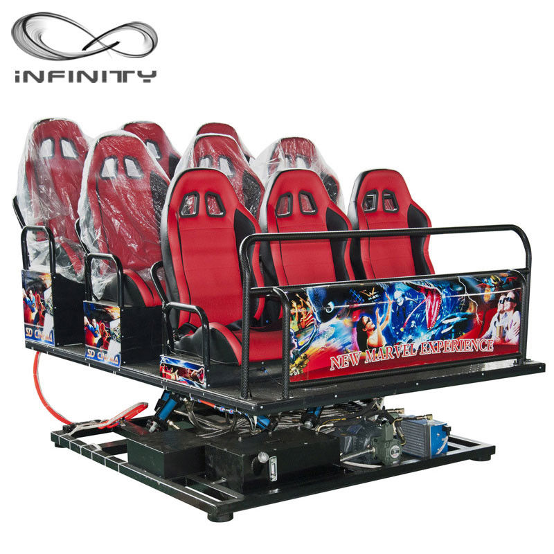 Multiplayer Six Seats Mobile Truck Cinema Special Effects 5D 7D Movie