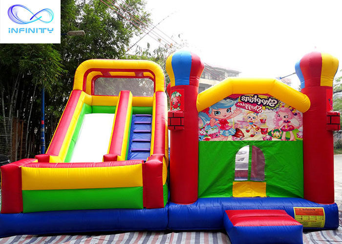 Anti Mildew Outdoor Backyard Inflatable Jumping Castle With Slide
